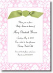 Boatman Geller - Pink Damask Invitations