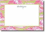 Boatman Geller - Magenta & Green Toile Invitations