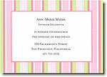 Boatman Geller - Pink Multistripe Invitations