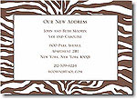 Boatman Geller - Brown Zebra Invitations