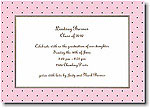 Boatman Geller - Pink With Brown Dot Invitations