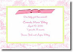Boatman Geller - Pink Toile With Lime Check Invitations