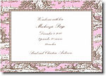 Boatman Geller - Pink & Brown Toile Invitations