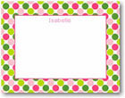 Boatman Geller - Big Dots Pink & Green Birth Announcements/Invitations