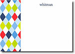 Boatman Geller - Blue Argyle Invitations