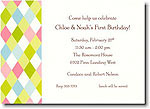 Boatman Geller - Lime Argyle Invitations