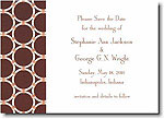 Boatman Geller - Brown Bamboo Rings Invitations
