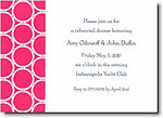 Boatman Geller - Pink Bamboo Rings Invitations