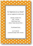 Boatman Geller - Halloween Invitations (Polka Dot Tangerine)