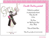 Bonnie Marcus Collection - Graduation Invitations (Diploma Girl)