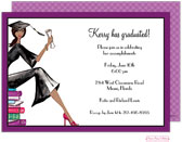 Bonnie Marcus Collection - Graduation Invitations (Multicultural Grad on Books )