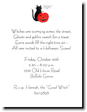 Blue Mug Designs - Halloween Invitation (Black Cat)