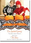 Noteworthy Collections - Halloween Photo Cards (Book Plate Swirly Skulls with Ribbon)