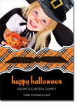 Noteworthy Collections - Halloween Photo Cards (Book Plate Halloween Plaid with Ribbon)
