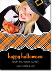 Noteworthy Collections - Halloween Photo Cards (Book Plate Halloween Plaid)