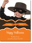 Noteworthy Collections - Halloween Photo Cards (Book Plate Halloween Polka Dots with Ribbon)