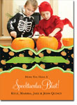 Noteworthy Collections - Halloween Photo Cards (Book Plate Pumpkins with Ribbon)