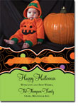 Noteworthy Collections - Halloween Photo Cards (Book Plate Halloween Circle Pattern with Ribbon)