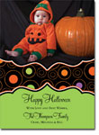 Noteworthy Collections - Halloween Photo Cards (Book Plate Halloween Circle Pattern)
