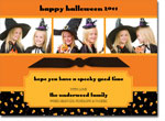 Noteworthy Collections - Halloween Photo Cards (Candy Corn with Ribbon)