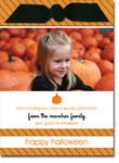 Noteworthy Collections - Halloween Photo Cards (Halloween Stripes with Ribbon)