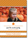 Noteworthy Collections - Halloween Photo Cards (Halloween Stripes)