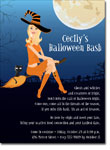 Noteworthy Collections - Halloween Invitations (Witch in Flight Blonde)