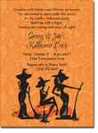 Noteworthy Collections - Halloween Invitations (Trio of Witches)