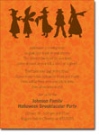 Noteworthy Collections - Halloween Invitations (Trick or Treat Silhouette)
