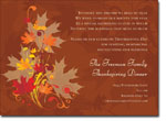 Noteworthy Collections - Halloween Invitations (Leaves of Autumn)