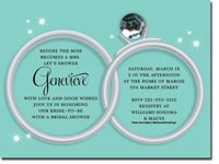 Paper So Pretty - Invitations (Wedding Rings on Blue)