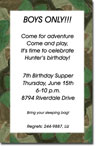 Picture Perfect - Invitations (Camo Border)