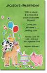 Picture Perfect - Invitations (Farm Animals)
