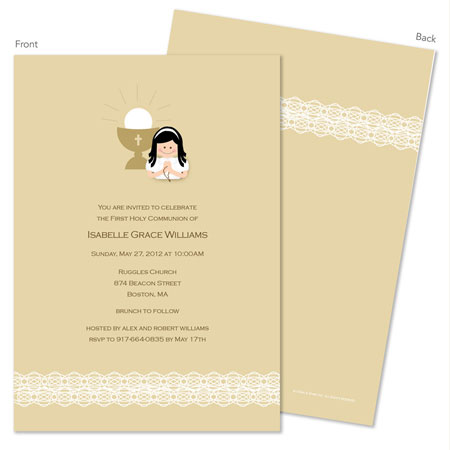 Spark & Spark Invitations (Lace On Bottom - Black Hair)