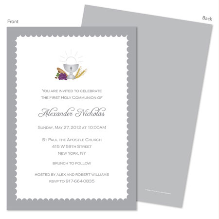 Spark & Spark Invitations (Bread, Water & Grapes)