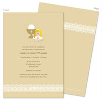 Spark & Spark Invitations (Lace On Bottom - Blonde)