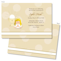 Spark & Spark Invitations (A Praying Girl - Blonde)