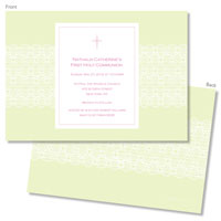 Spark & Spark Invitations (A Delicate Green Lace)