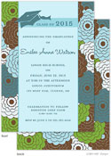 Take Note Designs - Floral Bunch and Turquoise Graduation Invitations