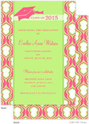 Take Note Designs - Pink Hourglass Graduation Invitations (Graduation)