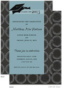 Take Note Designs - Charcoal Circle Grid Graduation Invitations (Graduation)