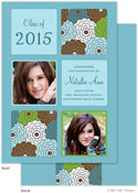 Take Note Designs - Floral Bunch and Turquoise Graduation Announcements (Photo)