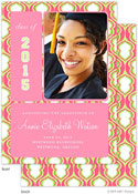 Take Note Designs - Pink Hourglass Graduation Announcements (Graduation) (Photo)