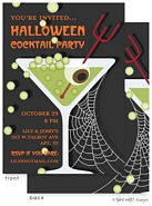 Take Note Designs - Halloween Invitations (Apple Martini Spooky Style)