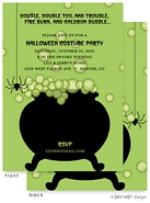 Take Note Designs - Halloween Invitations (Caldron Bubble Green)