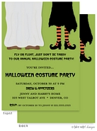 Take Note Designs - Halloween Invitations (Costume Pair on Green)