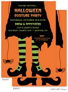 Take Note Designs - Halloween Invitations (Bewitched Spider on Orange)