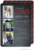 Tumbalina Graduation Invitations/Announcements - Grad Class Memories (Chalkboard Red - Photo)