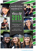 Tumbalina Graduation Invitations/Announcements - Grad Banner Collage (Chalkboard Green - Photo)