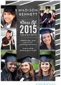 Tumbalina Graduation Invitations/Announcements - Grad Banner Collage (Chalkboard Gray - Photo)